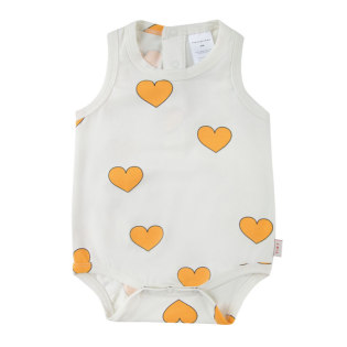 "TINY COTTONS SS20_""HEARTS"" BODY off-white/yellow_타이니코튼 원지"