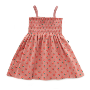 OEUF 우프 SS20 /  Oeuf Smock Dress_Tomato Print with Rose Dawn_우프 스모크드레스