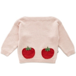 OEUF 우프 SS20 /  Oeuf Tomato Pocket Sweater_Coral Almond / Tomato_우프 스웨터 / 우프 의류