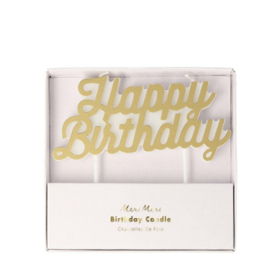 MeriMeri 메리메리 - Gold Happy Birthday Candle